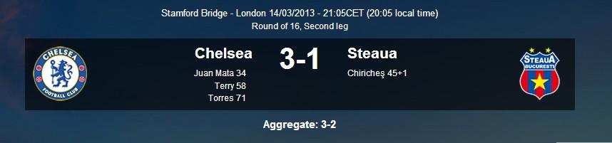 Steaua Chelsea 3-2