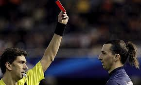 ibrahimovic red card valencia