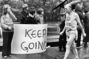 George Douthwaite, unul dintre alergatorii maratonului din 1981