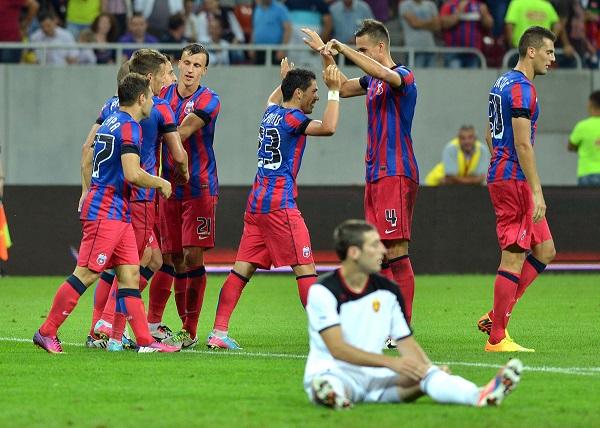 FOTBAL:STEAUA BUCURESTI-VARDAR SKOPJE 3-0,LIGA CAMPIONILOR (16.07.2013)