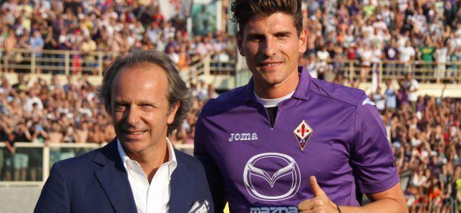 Fiorentina, presentazione di Mario Gomez