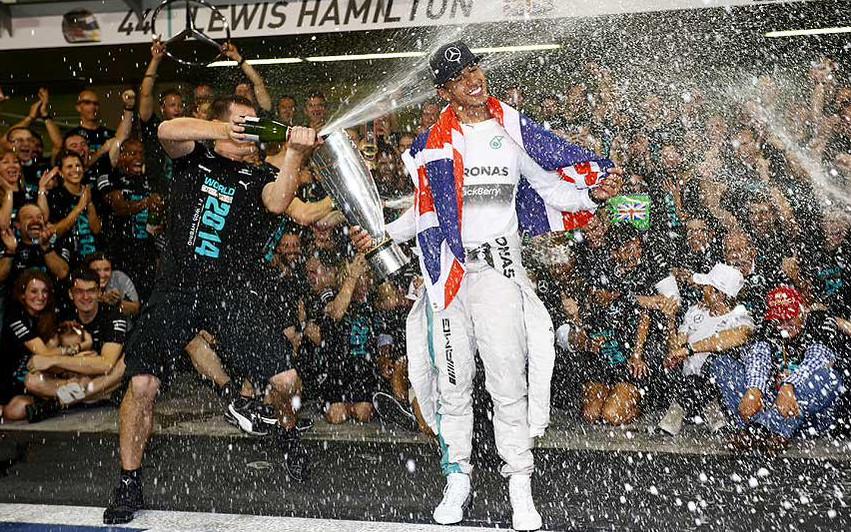 lewis hamilton campion mondial formula 1 2014