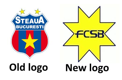 old vs new logo steaua