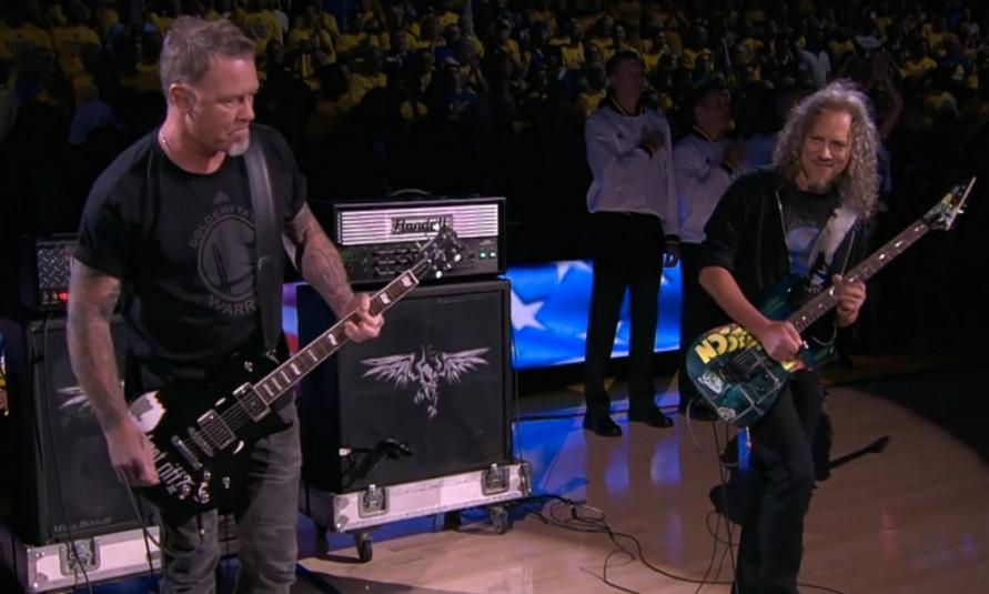 Metallica Final NBA 2015