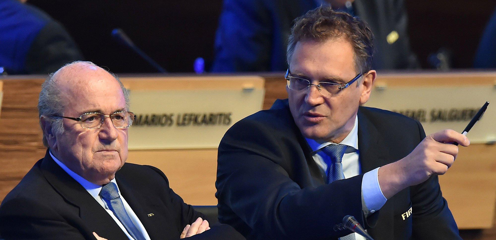 Sepp Blatter si mâna sa dreapta, Jerome Valcke. Sursa: Sportal.de