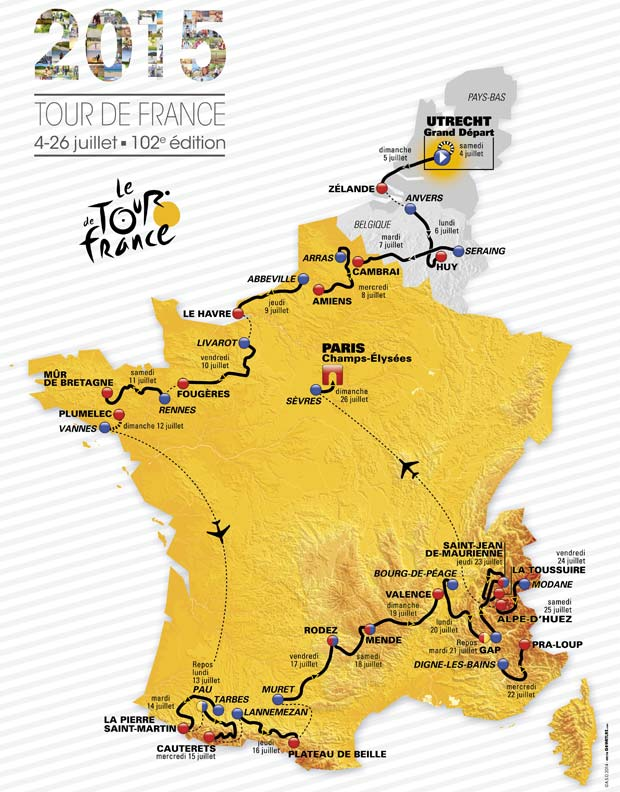 harta turul frantei 2015
