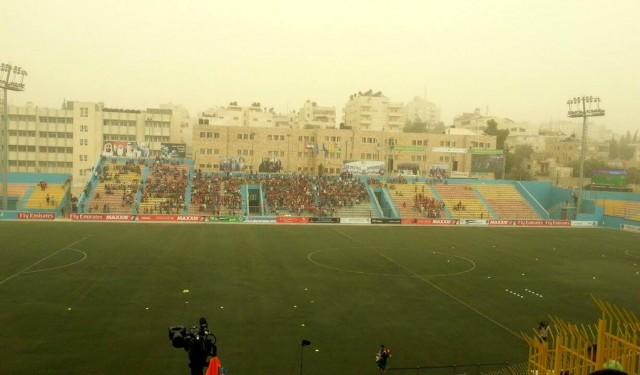Vizibilitatea s-a mai imbunatatit la ora de disputare a meciului, iar stadionul a fost plin / Sursa: @pal24sport