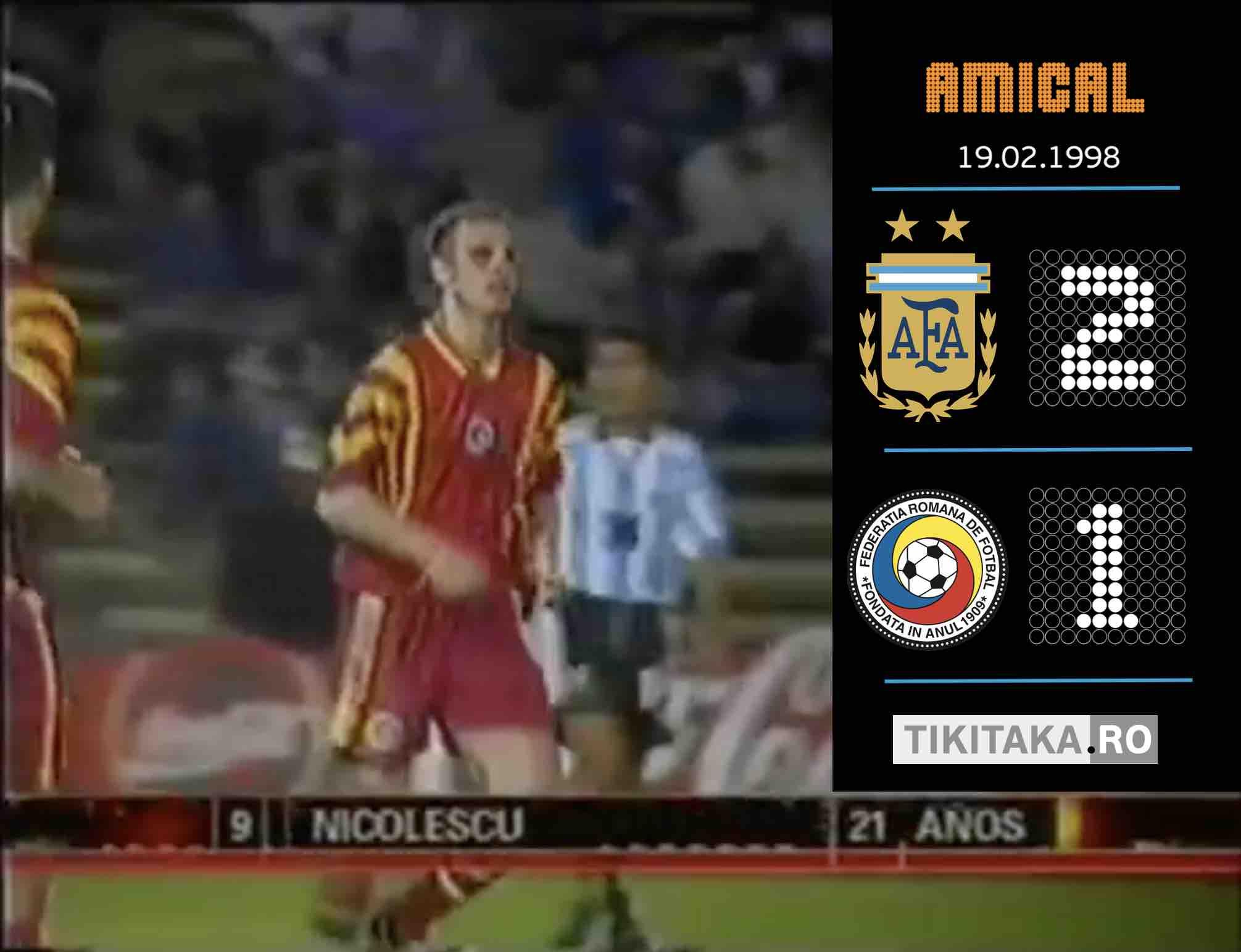 Argentina Romania 1998