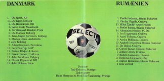 15.04.1981 Danemarca Romania2