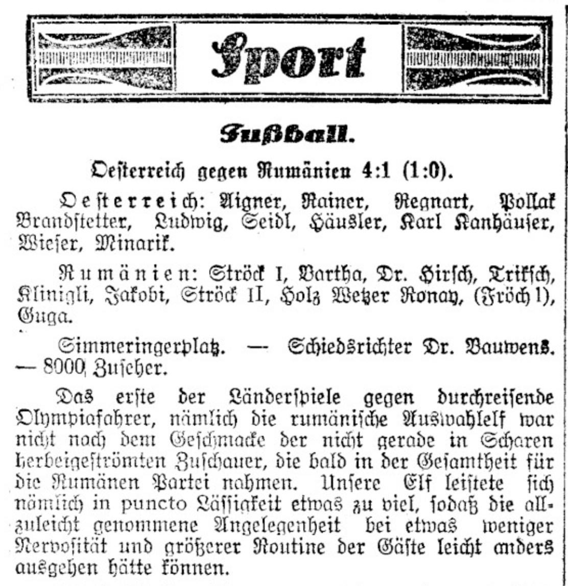 Austria Romanai 1924