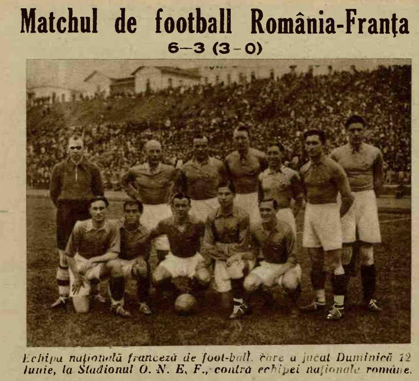 Romania 6-3 Franta 1932